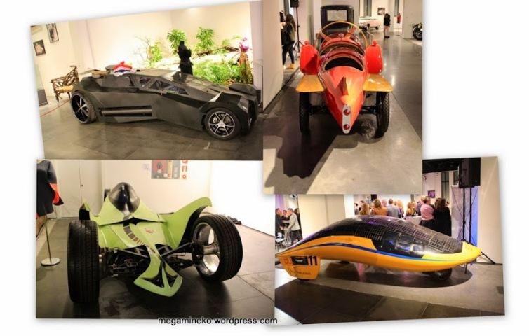collage coches futuristas
